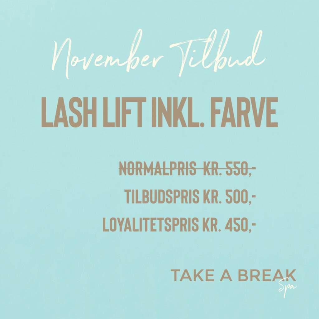 November tilbud Lash Lift1